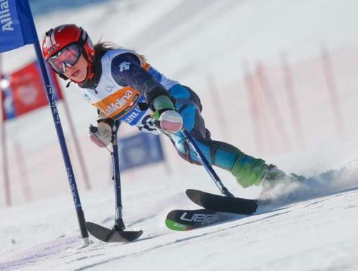 La esquiadora mallorquina Úrsula Pueyo, en una reciente competición.