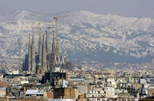 Imagen general de Barcelona, tras el temporal.