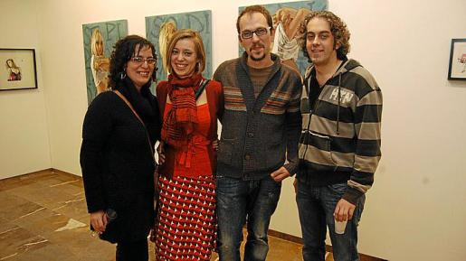 Vicky Cladera, Elena Femenía, Joan Sans y Guillem Crespí.