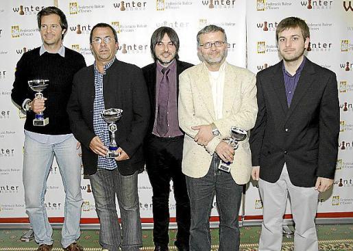 Juan Oliver, Juan Gayà, Carles Vich, Jeroni Bergas y Andreu Villalonga.