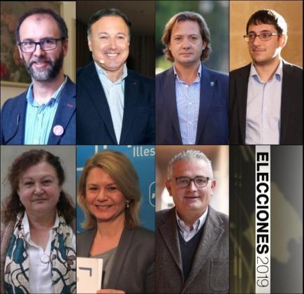 Arriba, Miquel Gallardo, Joan Mesquida, Jorge Campos y Iago Negueruela. Abajo, Mae de la Concha, Núria Riera y Jaume Font.