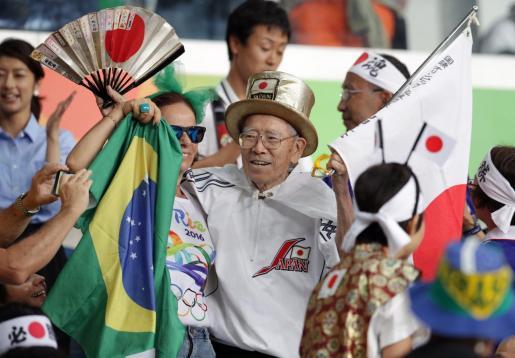 El japonés Naotoshi Yamada, durante una competición de lucha de los Juegos Olímpicos de Rio 2016.