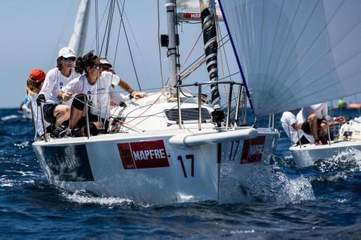 Imagen de una de las tripulaciones de la pasada Copa del Rey Mapfre de vela.