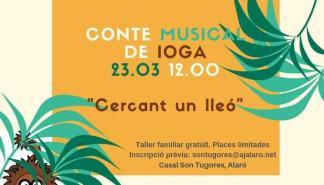 Taller familiar en el Casal Son Tugores de Alaró: cuento de yoga con música en vivo