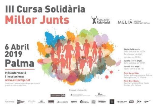 Cartel de la III edición de la carrera solidaria 'Millor Junts'.