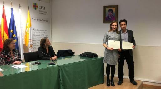 Los profesores de la UIB Joana Isabel Genovart y Emilio Mauleón.