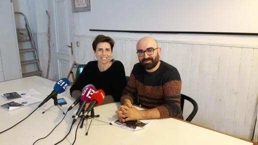 Margalida Ramis y Amadeu Corbera, este martes en rueda de prensa.