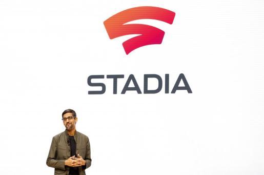 Sundar Pichai presentando el servicio de 'streaming' para videojuegos de Google.