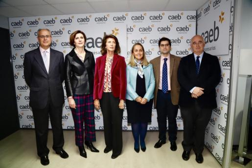 Carlos Ruiz, Bel Oliver, Carmen Planas, Cristina Teijelo, Fernando Jiménez y Miguel Morey, este martesen la CAEB.