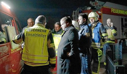 Tras la aparición de la bomba se montó un enorme dispositivo en Burglengenfeld.