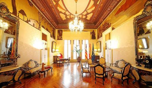 Vista general de la Sala Montenegro del Parlament de les Illes Balears.