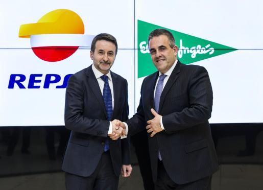 Los CEOs de Repsol, Josu Jon Imaz, y de El Corte Inglés, Víctor del Pozo.