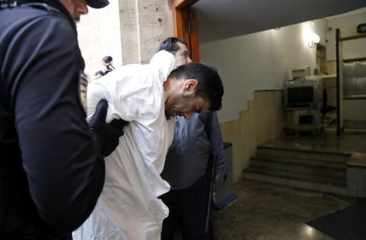 Rafael Pantoja en el momento en el que pasó a disposición judicial.