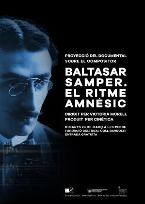 Cartel de la proyección en Valldemossa del documental sobre el músico Baltasar Samper.