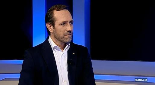 José Ramón Bauzá durante la entrevista en Canal 4.