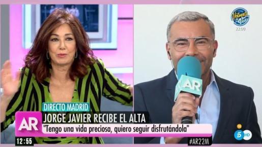 Jorge Javier ha entrado en directo en el programa de Ana Rosa.