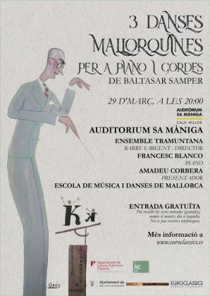 Cartel del concierto en el Auditòrium Sa Màniga.