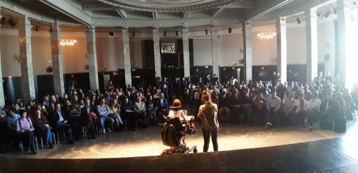 Un momento del acto celebrado por Podemos en el Círculo de Bellas Artes, en Madrid.