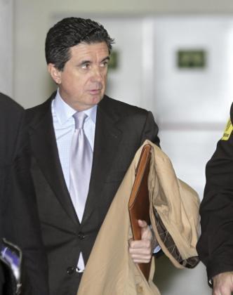 El expresidente del Gobierno balear, Jaume Matas, a su llegada a los Juzgados de Vía Alemania de Palma.