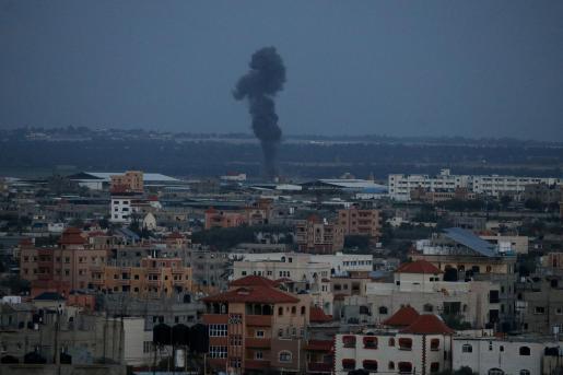 Imagen del bombardeo en Gaza.