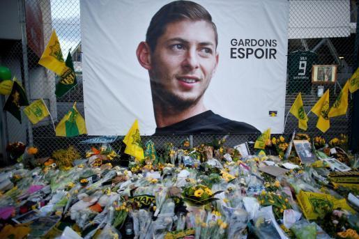 Imagen de uno de los homenajes realizados a Emiliano Sala.