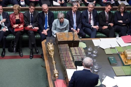 Theresa May en el Parlamento británico.