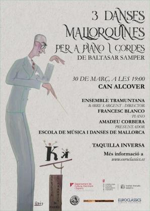 Cartel de la actuación en Can Alcover.