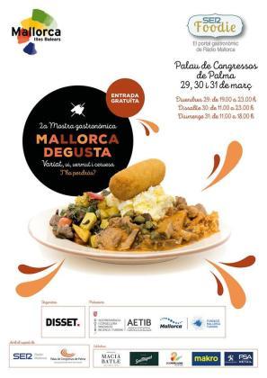 Cartel de la II Mostra gastronòmica Mallorca Degusta 2019.