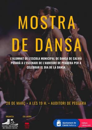 Cartel del evento 'Mostra de Dansa' en Calvià.
