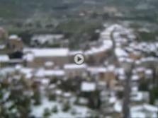 La nevada sobre Mallorca desde el aire