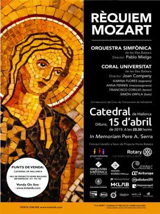 Cartel del concierto benéfico en favor de la Fundació Projecte Home Balears.