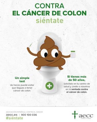 La campaña de prevención #Siéntate Contra el Cáncer de Colon se celebrará este sábado 30 de marzo, de 10 a 14 horas, en la plaza de España de Inca.