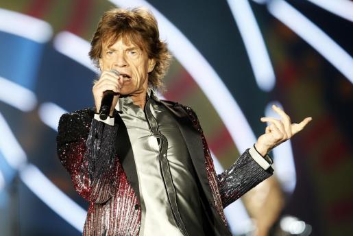 Mick Jagger, lider y vocalista de la banda británica The Rolling Stones, actuando en Chile en 2016.