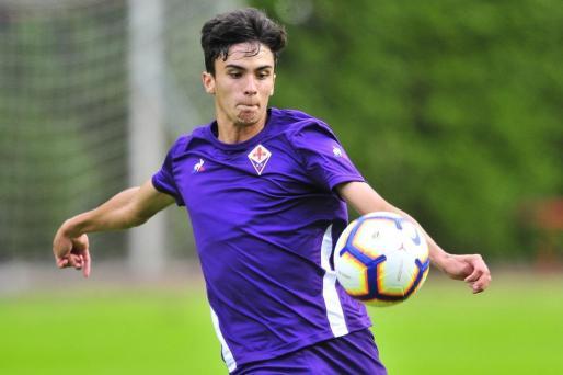 El fútbolista mallorquín Tòfol Montiel, en un partido de pretemporada con la Fiorentina.