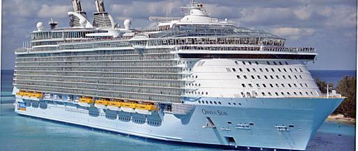 El 'Oasis of the Seas' llegará por primera vez.