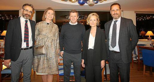 Mateu Oliver, María Serra de Gayeta, José María Oliver, Marta Vall-Llosera y Alfredo Arias.