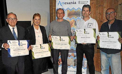 Mateu Rosselló, Carmen Oropesa, Joan Cerdà, Joachim Pourque y Ernesto Kaufman.