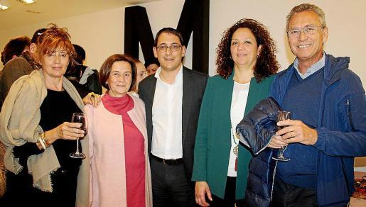 Juanita Oliver, María Abando, Iago Negueruela, Catalina Cladera y Jaume Garau.