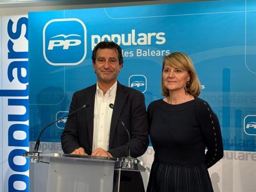 Biel Company presenta a Rosa Estarás como número nueve de la candidatura del PP a las elecciones europeas.