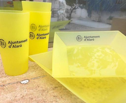 Las vajillas que el Ajuntament d'Alaró cede para los eventos.