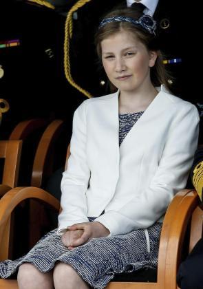 La princesa Elisabeth de Bélgica durante un acto en el año 2015.