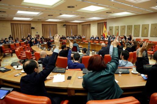 Un momento de la reunión de la Diputación Permanente celebrada este miércoles.