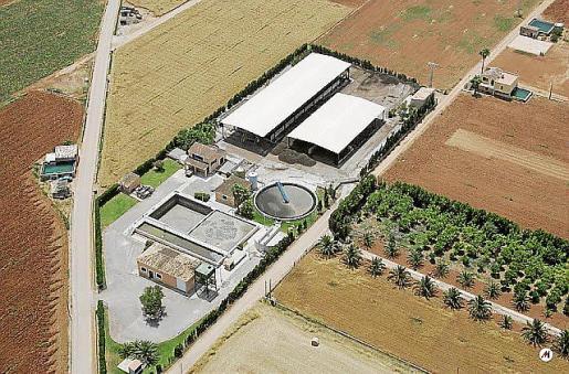 La actual estación depuradora de aguas residuales.
