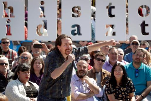 El secretario general de Podemos y candidato de Unidas Podemos a la presidencia del Gobierno, Pablo Iglesias.