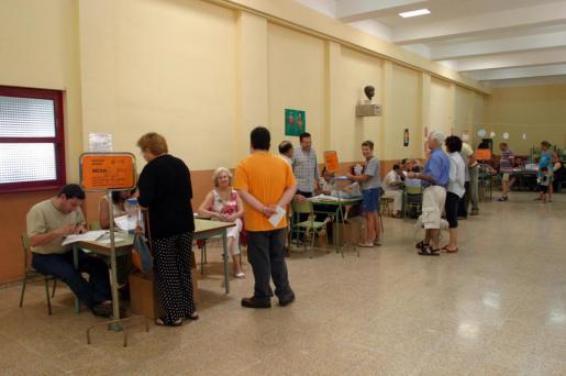 Colegio electoral de Palma en las elecciones europeas de 2014.