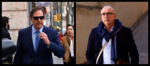Manuel Penalva y Miguel Ángel Subirán, en dos imágenes de archivo.