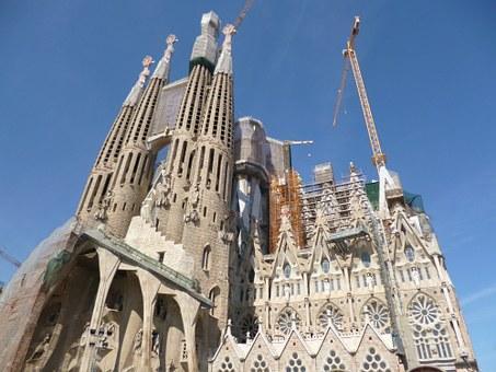 Vistas de la Sagrada Familia.