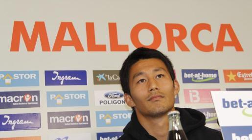 El jugador japonés del Mallorca, Aki, en una imagen de archivo.