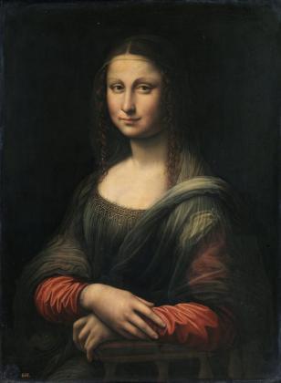 """Imagen cedida por el Museo de El Prado de Madrid de su copia del famoso cuadro de Leonardo Da Vinci """"La Gioconda""""."""