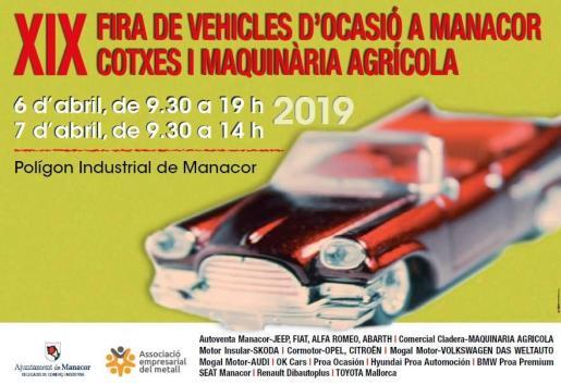 Manacor celebra una nueva edición de la Fira de Vehícles d'Ocasió.